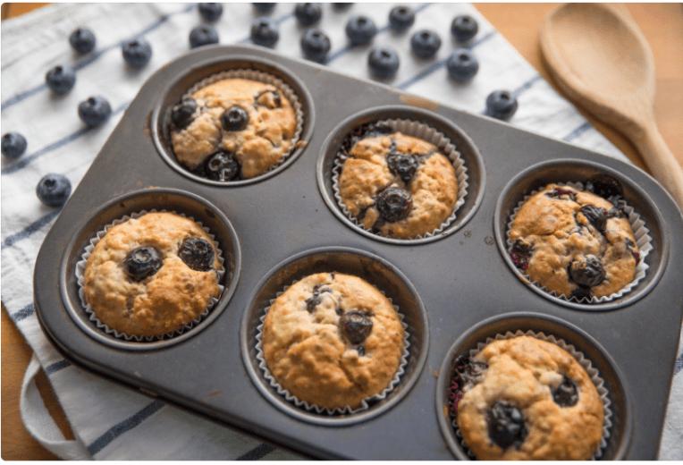 Banana Blueberry Muffins Recipe Healthy muffins recipe