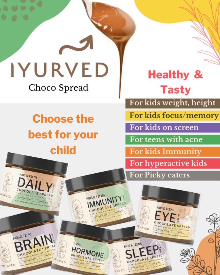 Ayurvedic chocolate spread by Iyurved, Ayurvedic savoury spread by Iyurved