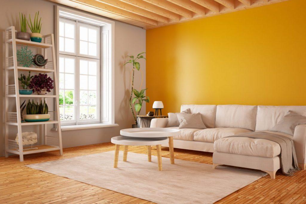 5 couleurs chaudes pour un salon