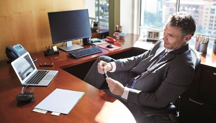 Businessman talking in the office