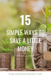 15 simple ways to save a little money