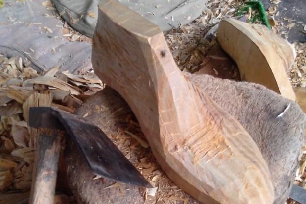 Forme en bois pour chaussures sur-mesure