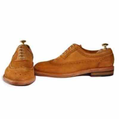 Long wing brogue chaussures