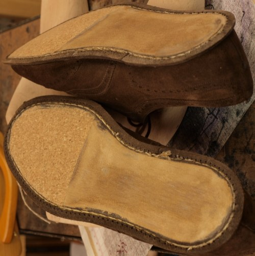 Garniture chaussures en plaque de liège
