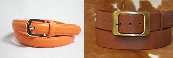 On est bien d'accord que la largeur à une grosse influence sur le style de la ceinture, non ?
