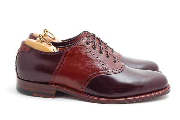 chaussure richelieu saddle oxford