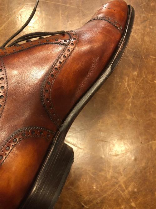 Chaussures faites main lisse ronde