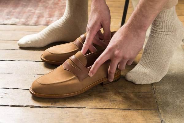 Loafer bi-matières