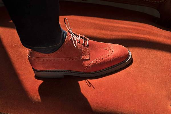 derby golf velours rouge