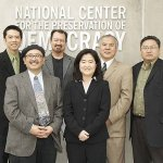 """Participants of the """"From Newsprint to New Media: The Evolving Role of Nikkei Newspapers"""" program on April 2, 2011"""
