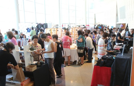 Shoppers at the Kokoro Craft Boutique are busy hopping from one booth to another.