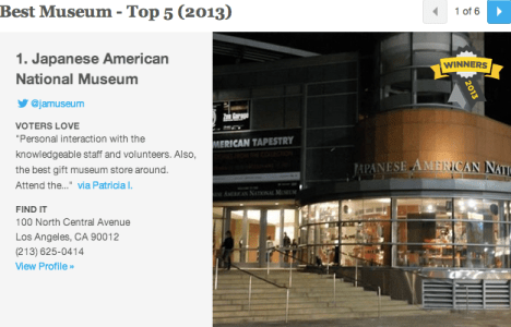 JANM is Number one on LA's Hotlist!