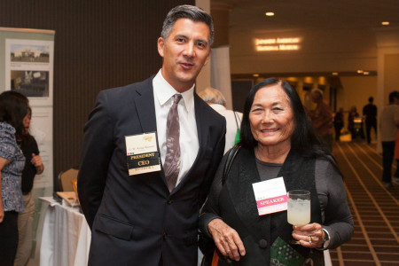 Dr. Kimura, JANM President/CEO, and author Jeanne Wakatsuki Houston.