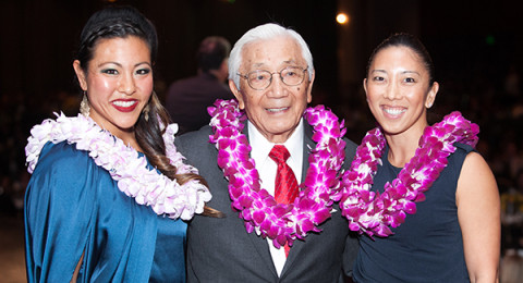 Jamie Hagiya, Wat Misaka, and Natalie Nakase at the 2014 Gala Dinner. Photo by Tracy Kumono.