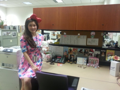MariAnne is ready to welcome Hello Kitty fans to JANM!