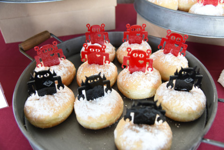 Cafe Dulce also got in the spirit with special Giant Robot x JANM donuts. Photo by Nobuyuki Okada.