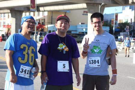 JANM staffer Clement Hanami, volunteer Michael Okuda, and staffer Evan Kodani. Photo by Richard Murakami.