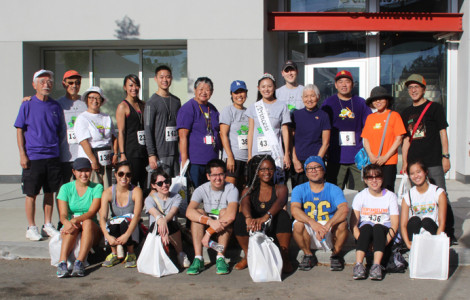 JANM staffers and volunteers gather for Homeboy Industries' Every Angeleno Counts 5K and Festival. Photo by Richard Murakami.