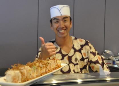A friendly sushi chef.