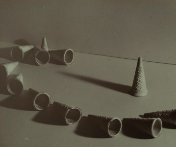 J. T. Sata, Untitled (Ice Cream Cones), 1930, gelatin silver print. Partial and promised gift of Frank and Marian Sata and Family. Collection of the Japanese American National Museum.