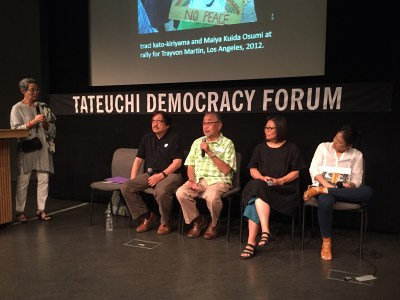 L to R: Karen Ishizuka, Mike Murase, Warren Furutani, Qris Yamashita, traci kato-kiriyama. All photos by Vicky Murakami-Tsuda.