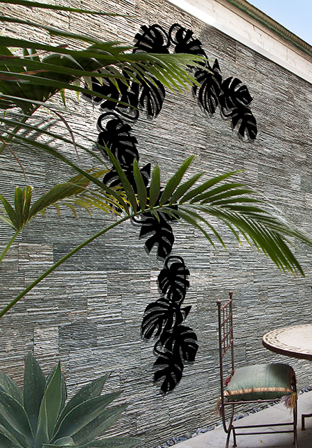 Treille Monstera Liana Noire Palissadesign Jardinchic