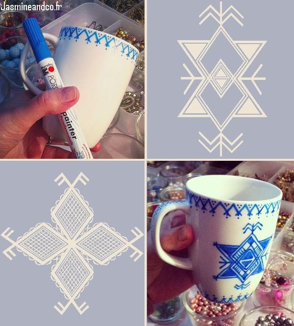 mug porcelaine berbère