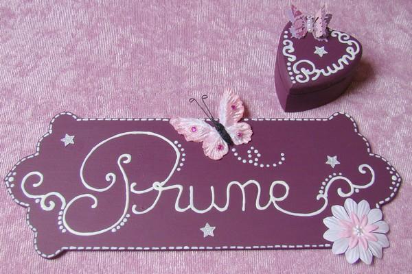 plaque de porte Prune