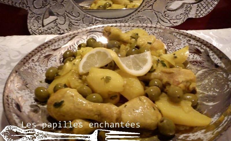 tajine poulet olive