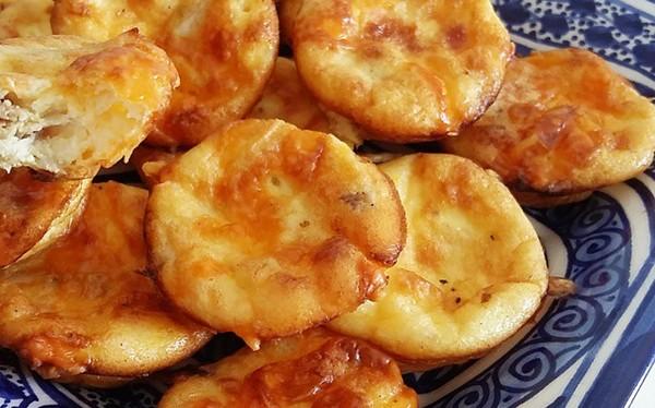 Mini quiche sans pâte poulet / fromage