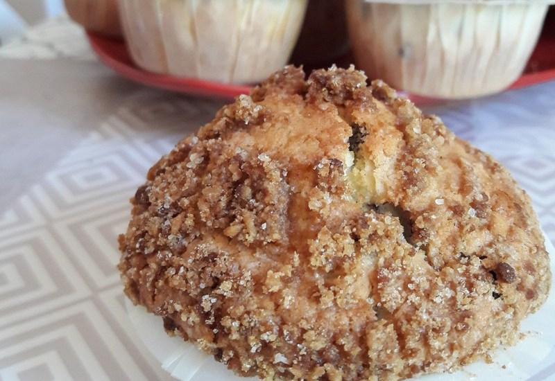 Recette : Muffins crumble myrtille et noisette