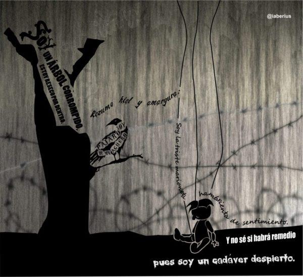 Triste marioneta, poema visual