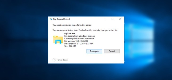Replace, Move and Edit Protected Files in Windows