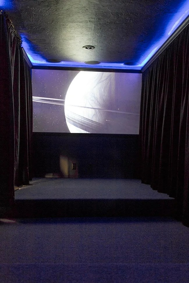 Home Theater Room Phase II Wall Curtains Amp Projector Screen Jenna Sue Design Blog