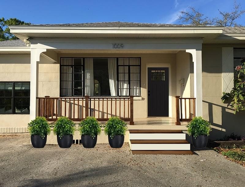 Simple Diy Wood Porch Steps Makeover   Painting Outdoor Concrete Steps   Behr Premium   Epoxy   Front Porch   Deck   Slip Resistant