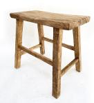 DIY elm wood stool