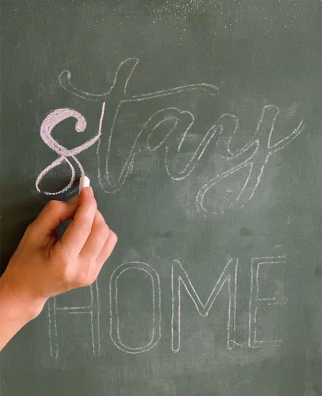easy chalkboard hand lettering
