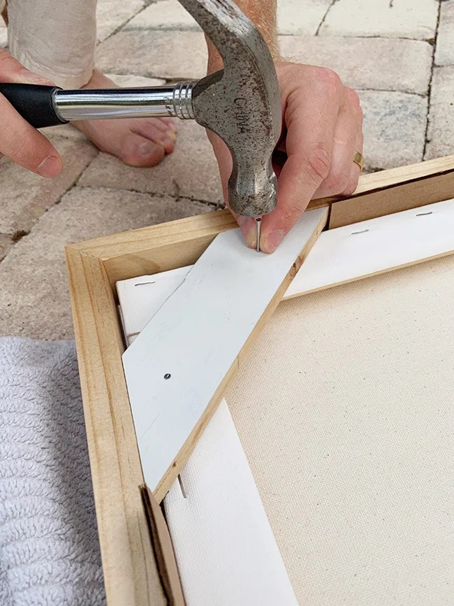 diy canvas wood frame