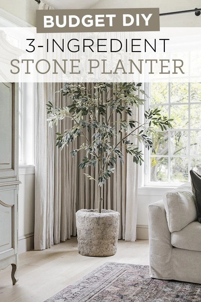 diy hypertufa stone planter