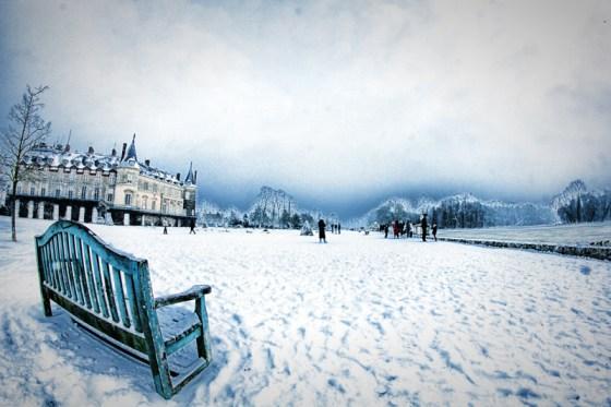 Parc de Rambouillet sous la neige