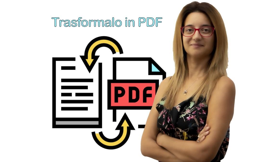 È difficile ricavare un Pdf da un file Word. Ne sei proprio sicuro?