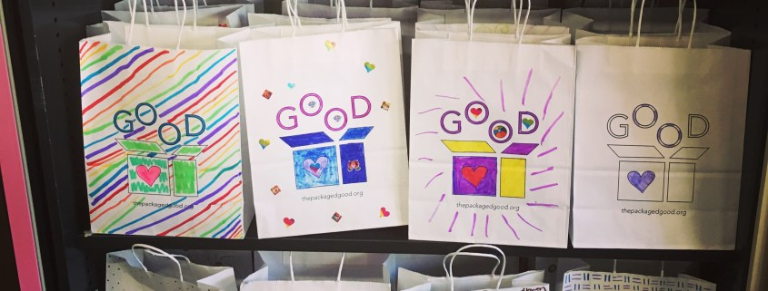 Decorated bags for care packages