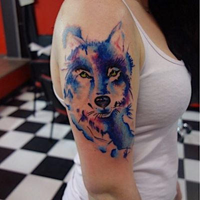wolf tattoo for girls