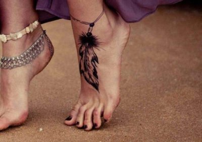 feather tattoo for girls