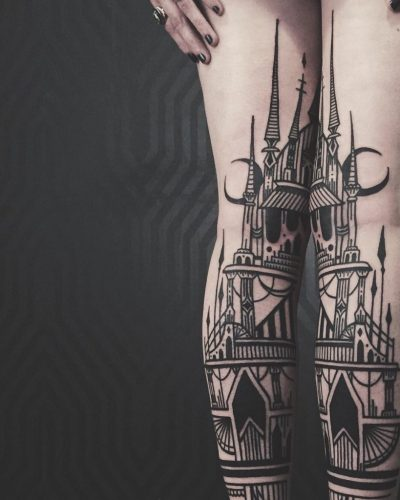 architecture tattoo for girls