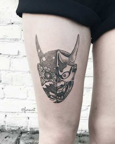 macabre tattoo for girls