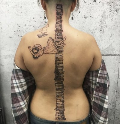 spine tattoo for girls