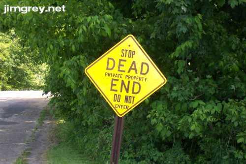 A warning.