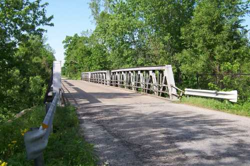 Iron truss bridge on SR 37