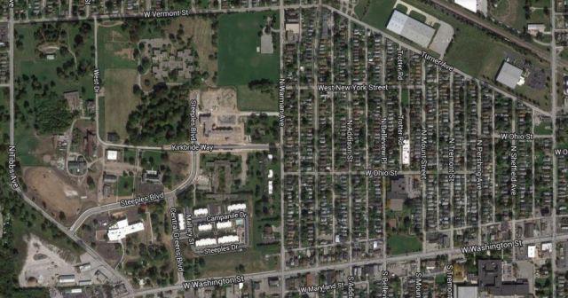 Imagery ©2014 DigitalGlobe, IndianaMap Framework Data, USDA Farm Service Agency, Map data ©2014 Google, Indiana University